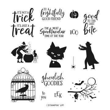 GHOULISH GOODIES CLING STAMP SET