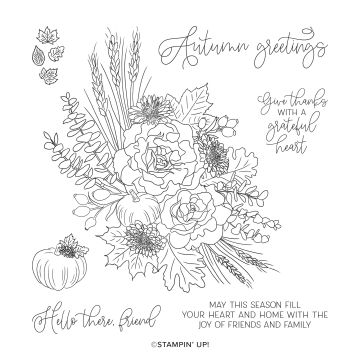 AUTUMN GREETINGS CLING STAMP SET (ENGLISH)