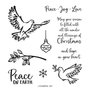 STAMP SET CLING DOVE OF HOPE (ENGLISH)