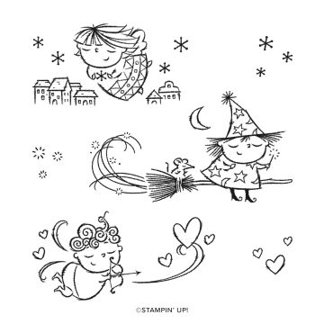 FLIGHT OF FANCY CLING STAMP SET