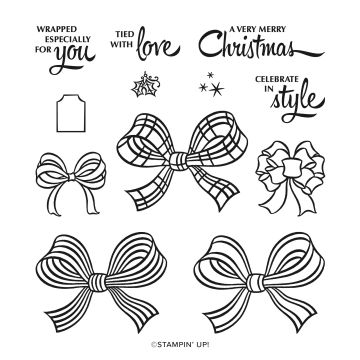 GIFT WRAPPED PHOTOPOLYMER STAMP SET (ENGLISH)