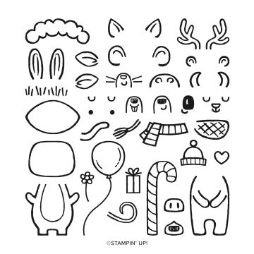 MENAGERIE MIX-UP PHOTOPOLYMER STAMP SET
