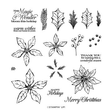 POINSETTIA PETALS PHOTOPOLYMER STAMP SET (ENGLISH)