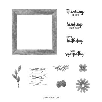 FRAMED FOR YOU CLING STAMP SET (ENGLISH)
