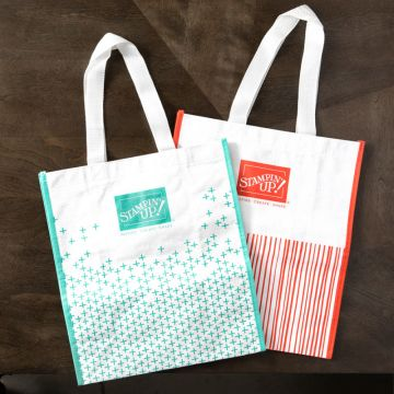 CALYPSO CORAL & COASTAL CABANA REUSABLE SHOPPING BAGS
