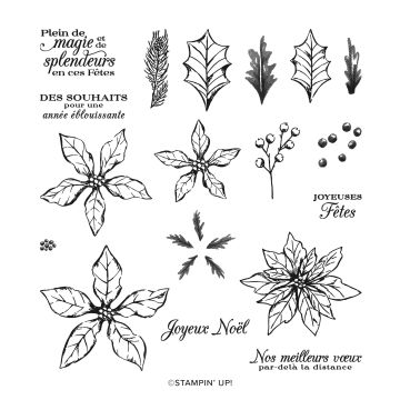 PÉTALES DE POINSETTIA PHOTOPOLYMER STAMP SET (FRENCH)