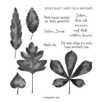 STEMPELSET KLARSICHT WUNDERBARE BLÄTTER (DEUTSCH)