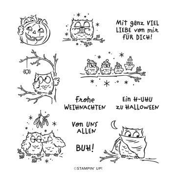 STEMPELSET ABLÖSBAR EULENFEST (DEUTSCH)