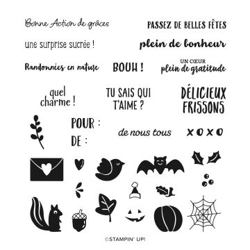 BANDEROLES ENJOUÉES PHOTOPOLYMER STAMP SET (FRENCH)