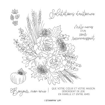SALUTATIONS D'AUTOMNE CLING STAMP SET (FRENCH)
