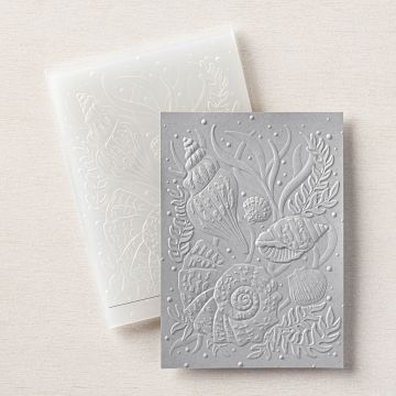 SEASHELLS 3D EMBOSSING FOLDER