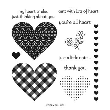 LOTS OF HEART PHOTOPOLYMER STAMP SET