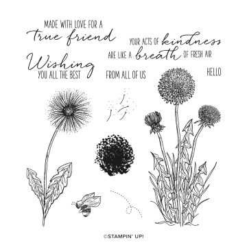 garden wishes stamps dandelions bee from stampin up with zoe tant
