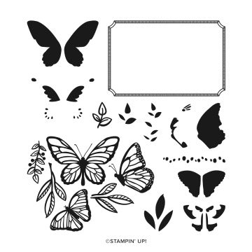 FLOATING & FLUTTERING PHOTOPOLYMER STAMP SET