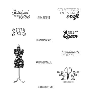 HANDMADE FOR YOU CLING STAMP SET
