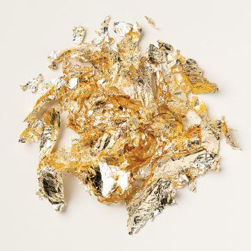 DEKO-METALLBLÄTTCHEN IN GOLD