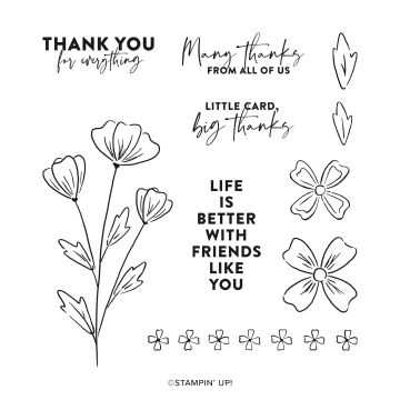 stampin up flowers of friendship stamp set