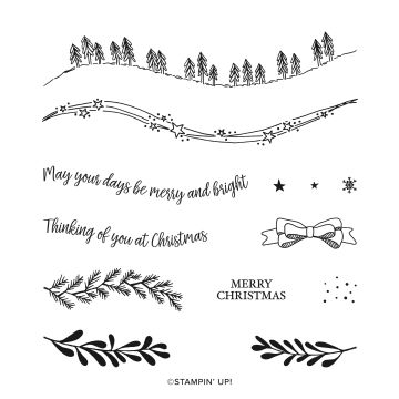 CURVY CHRISTMAS PHOTOPOLYMER STAMP SET