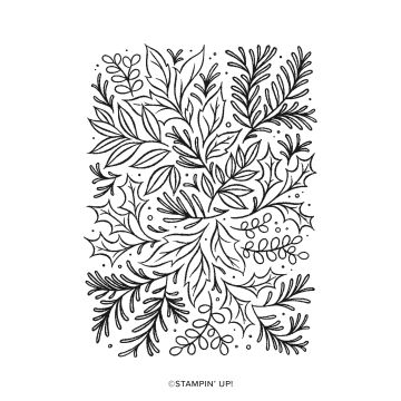 festive foliage background stamp for crafting and card making