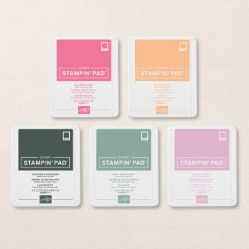 in color ink pads for stamping stampin up