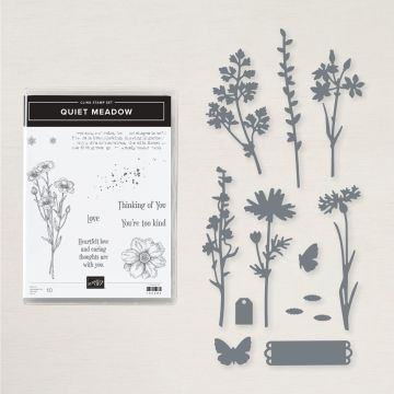quiet meadow bundle stampin up stamps and dies with zoe tant