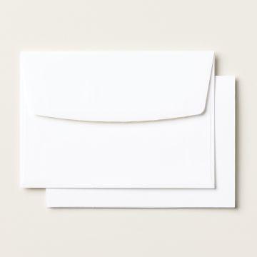 BASIC WHITE NOTE CARDS & ENVELOPES