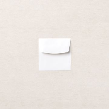 "BASIC WHITE 3"" X 3"" (7.6 X 7.6 CM) ENVELOPES"
