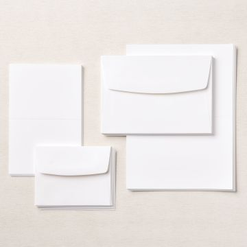 BASIC WHITE ASSORTED MEMORIES & MORE CARDS & ENVELOPES