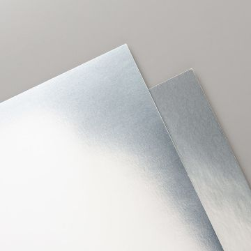 METALLIC-FOLIENPAPIER IN SILBER