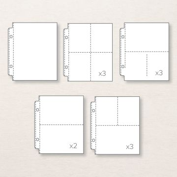 """VARIETY PACK 6"""" X 8"""" (15.2 X 20.3 CM) PHOTO POCKET PAGES"""