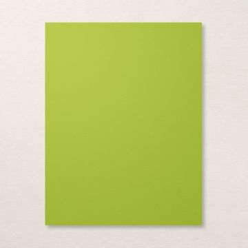 "GRANNY APPLE GREEN 8-1/2"" X 11"" CARDSTOCK"
