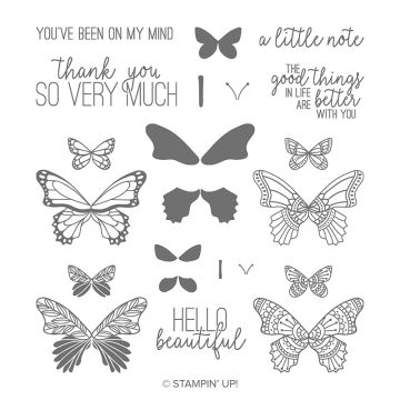 BUTTERFLY GALA PHOTOPOLYMER STAMP SET (ENGLISH)