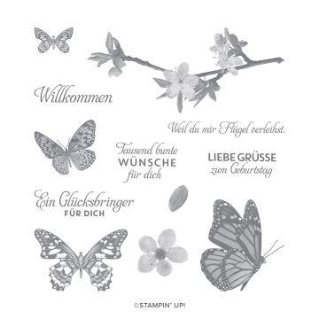 SCHWÄRME VOLL GLÜCK CLING STAMP SET (GERMAN)
