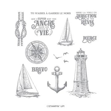 TERRE À L'HORIZON CLING STAMP SET (FR)