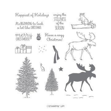 MERRY MOOSE PHOTOPOLYMER STAMP SET