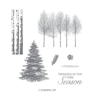 WINTER WOODS CLING STAMP SET (ENGLISH)