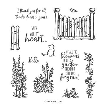 GRACE'S GARDEN PHOTOPOLYMER STAMP SET (ENGLISH)