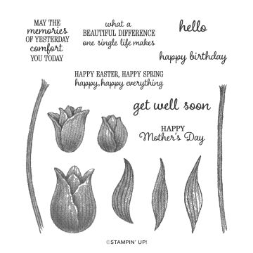 TIMELESS TULIPS PHOTOPOLYMER STAMP SET (ENGLISH)