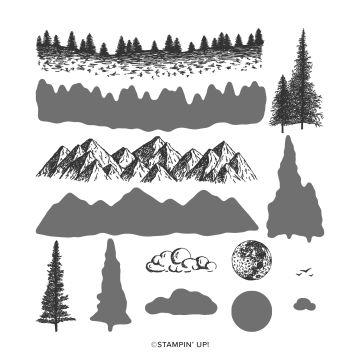 MOUNTAIN AIR PHOTOPOLYMER STAMP SET (ENGLISH)