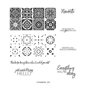 TODAY'S TILES PHOTOPOLYMER STAMP SET