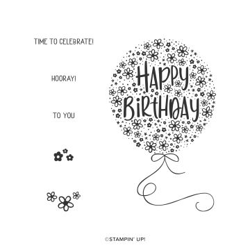 HOORAY TO YOU CLING STAMP SET