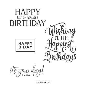 HAPPIEST OF BIRTHDAYS CLING STAMP SET (ANGLAIS)