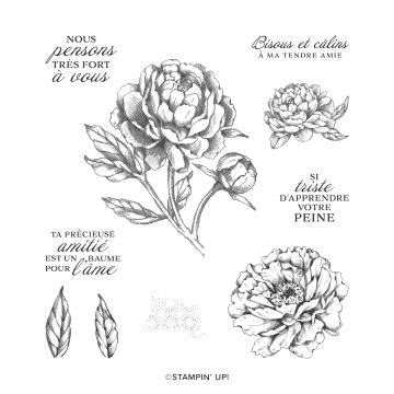 PIVOINE PENSIVE CLING STAMP SET