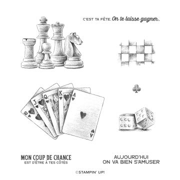 COUP DE CHANCE CLING STAMP SET (FRENCH)