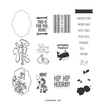 CELEBRATION OF TAGS PHOTOPOLYMER STAMP SET