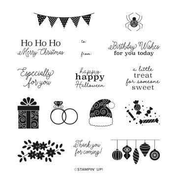 STAMP SET CLING LITTLE TREATS