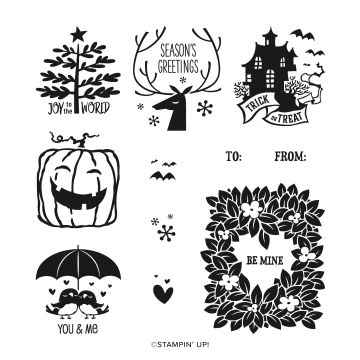 EVERYTHING ESSENTIAL CLING STAMP SET (ENGLISH)
