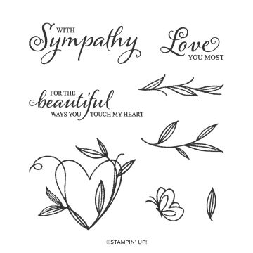 TOUCHED MY HEART HOST CLING STAMP SET