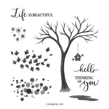LIFE IS BEAUTIFUL PHOTOPOLYMER STAMP SET
