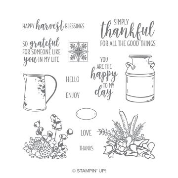 COUNTRY HOME PHOTOPOLYMER STAMP SET (ENGLISH)